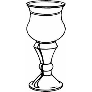 Goblet coloring #1, Download drawings
