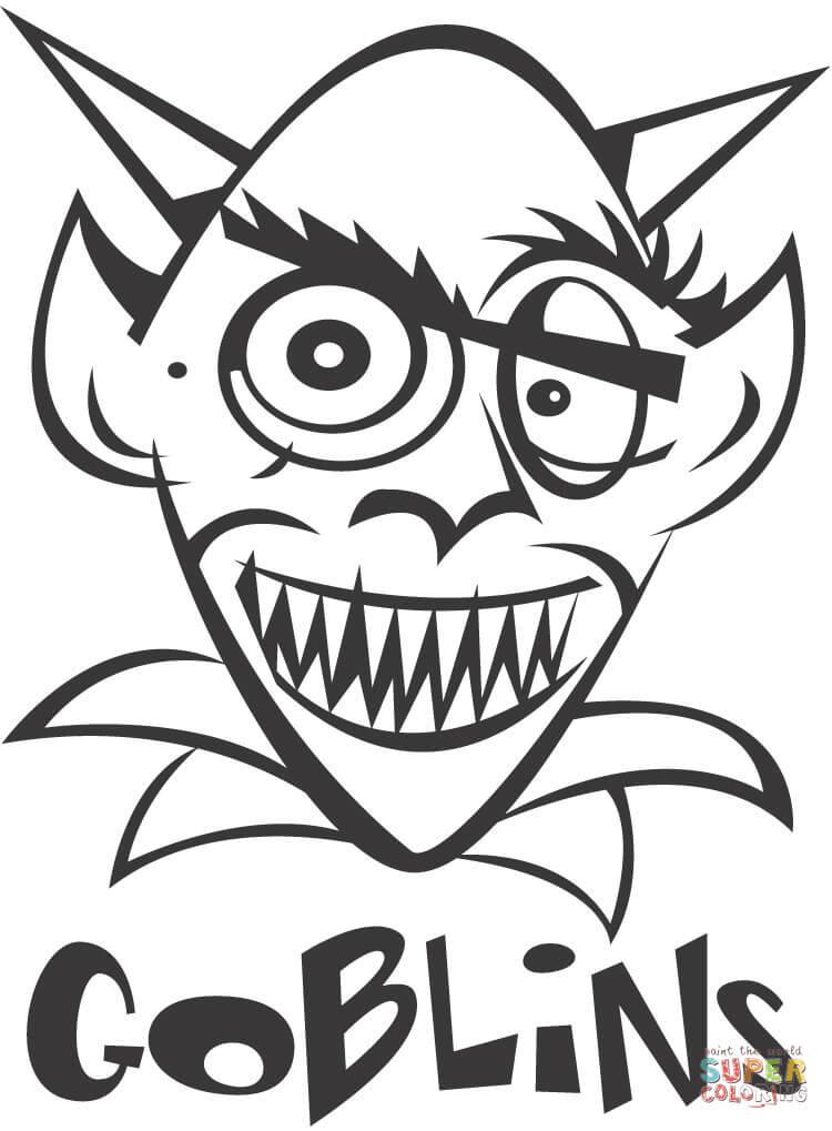 Goblin coloring #10, Download drawings