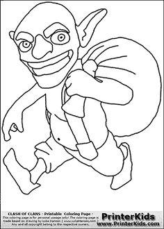 Goblin coloring #11, Download drawings