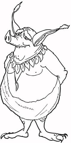 Goblin coloring #4, Download drawings