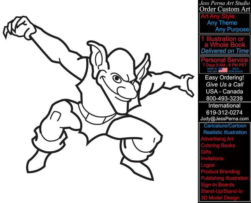 Goblin coloring #16, Download drawings