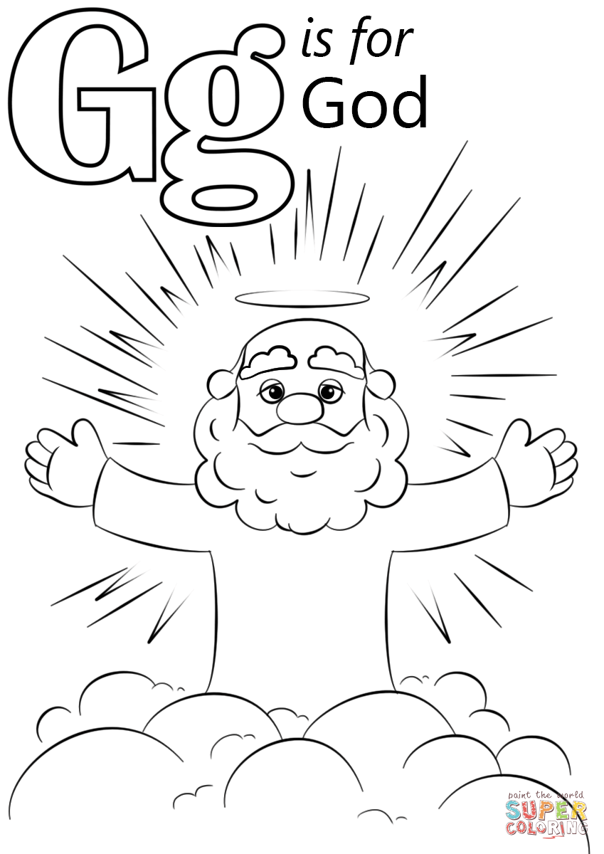 God coloring #5, Download drawings