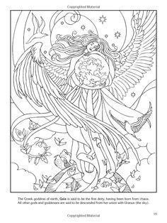 Goddess coloring #15, Download drawings