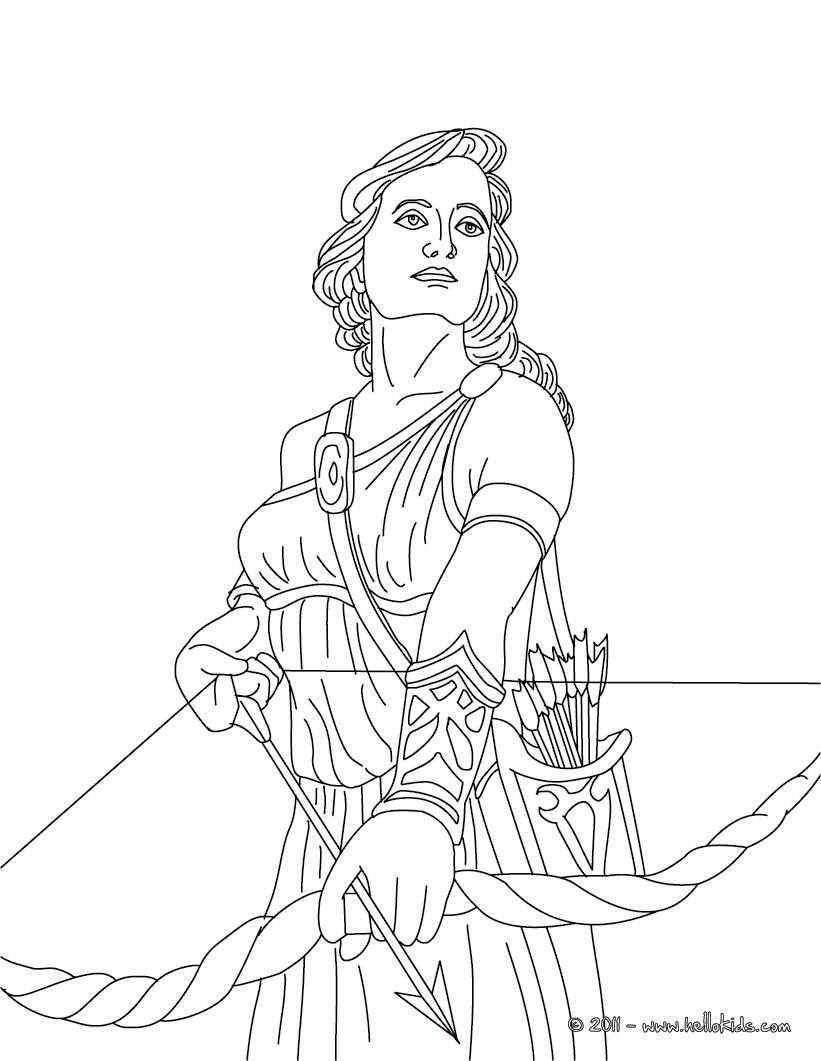 Goddess coloring #2, Download drawings