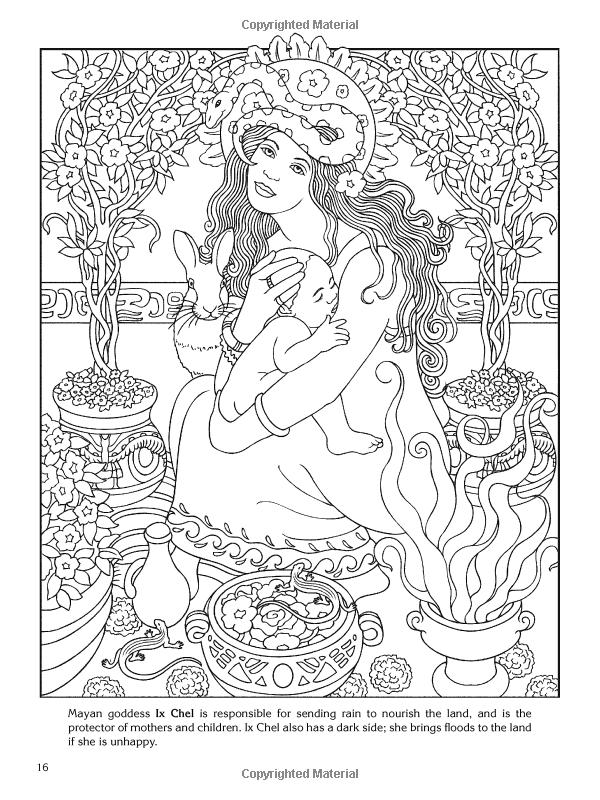 Goddess coloring #5, Download drawings