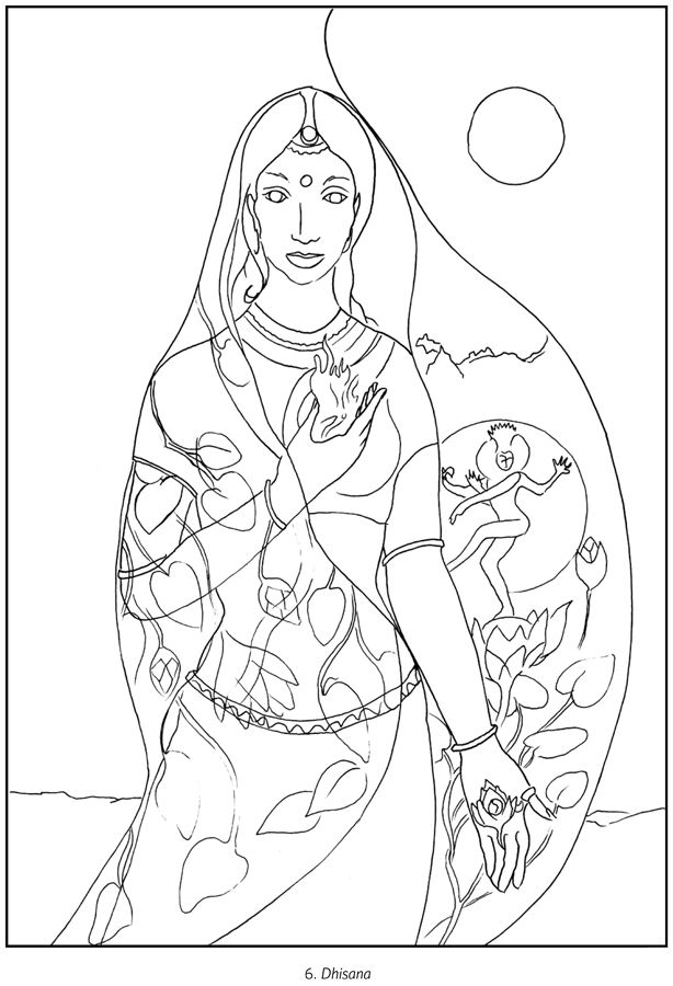 Goddess coloring #1, Download drawings