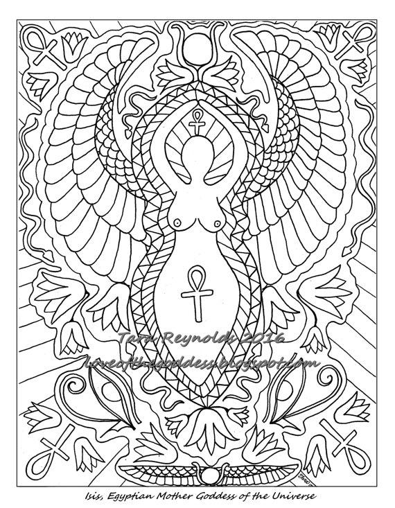 Goddess coloring #11, Download drawings