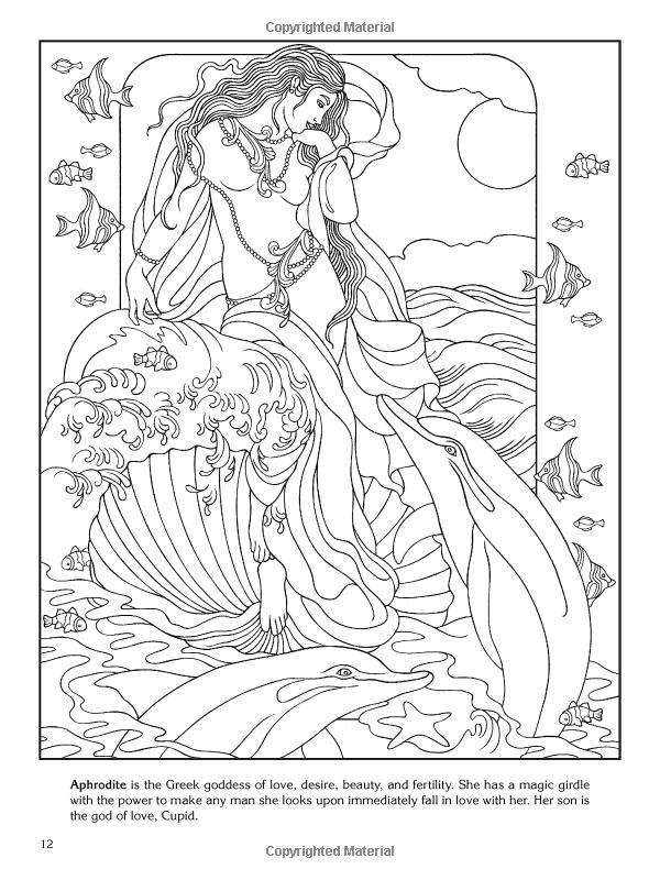 Goddess coloring #19, Download drawings