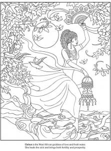 Goddess coloring #3, Download drawings