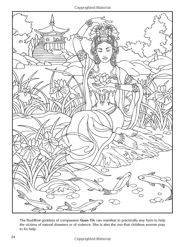 Goddess coloring #12, Download drawings