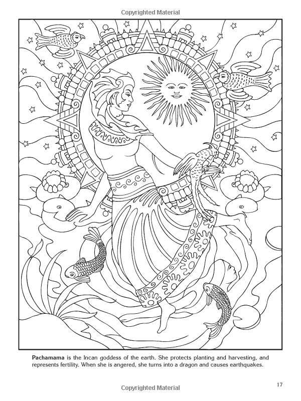 Goddess coloring #17, Download drawings