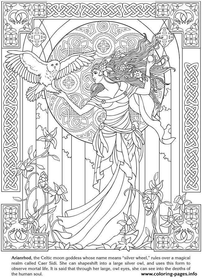 Goddess coloring #10, Download drawings