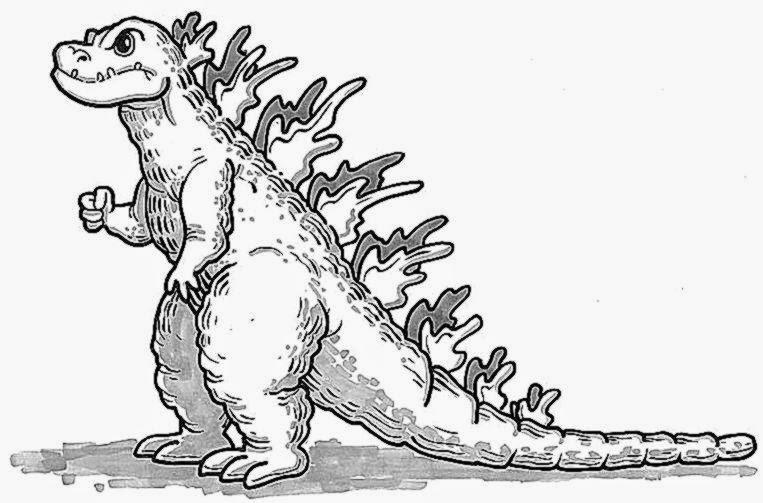 Godzilla coloring #19, Download drawings