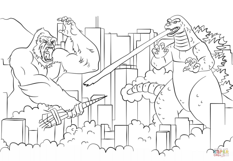 Godzilla coloring #6, Download drawings