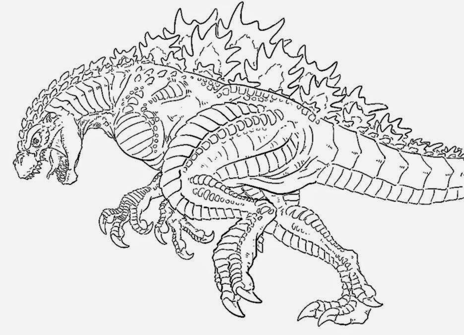 Godzilla coloring #20, Download drawings