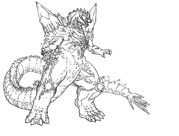 Godzilla coloring #3, Download drawings