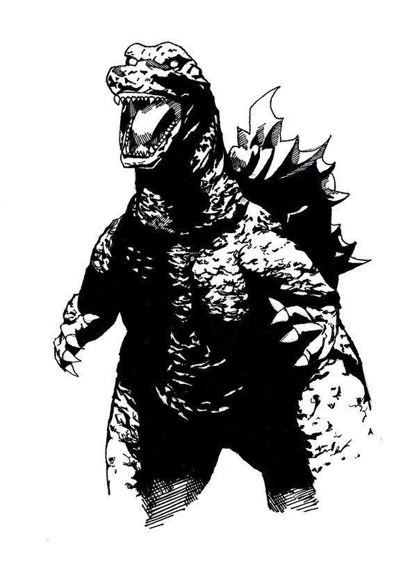Godzilla svg #1, Download drawings