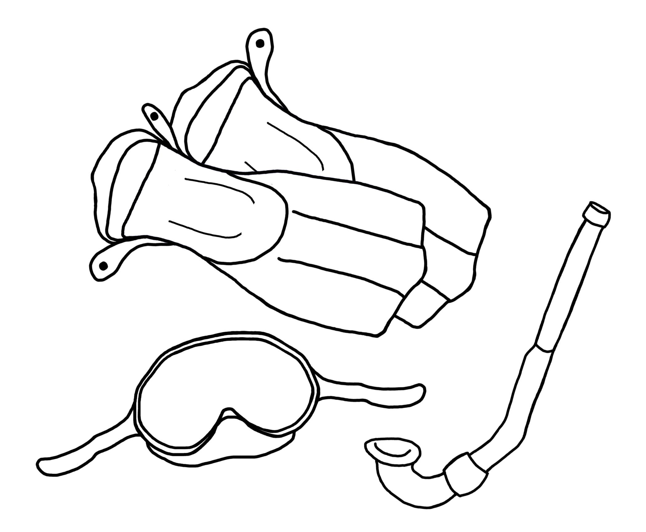 scuba gear coloring pages - photo#15