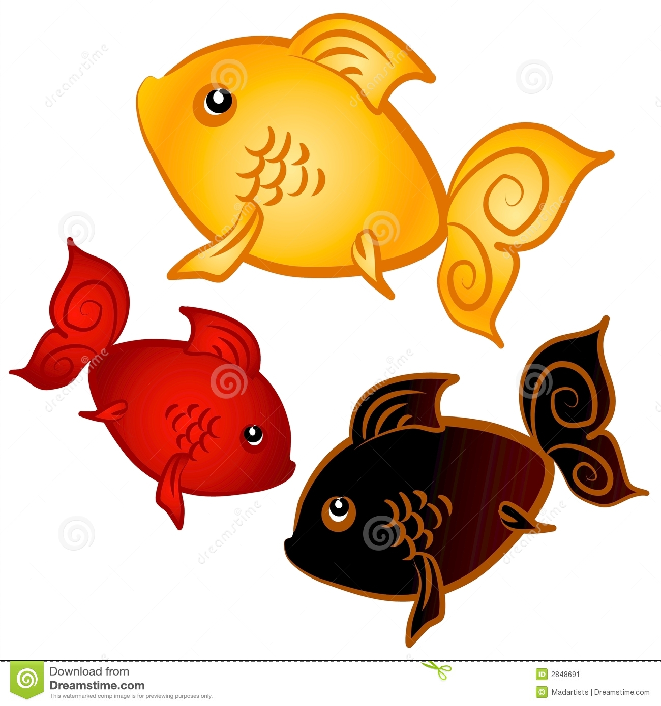 Gold Fish clipart #8, Download drawings