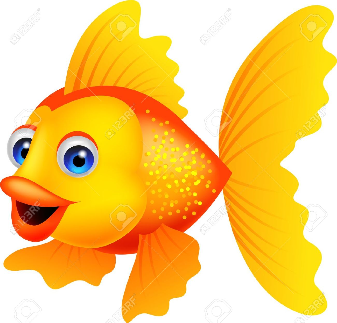 Gold Fish clipart #4, Download drawings