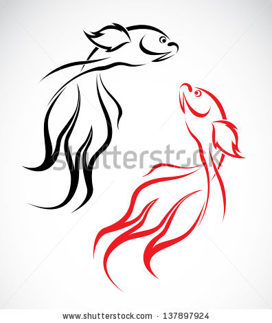 Gold Fish svg #1, Download drawings