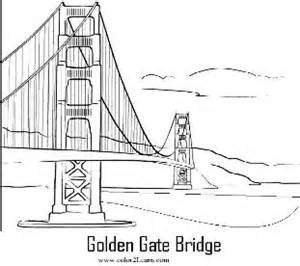 golden gate coloring pages - photo#12