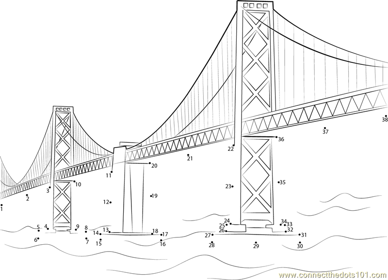 golden gate coloring pages - photo#25