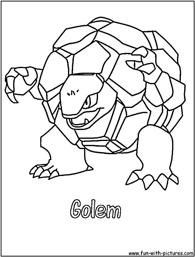Golem coloring #16, Download drawings
