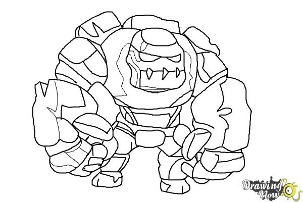 Golem coloring #17, Download drawings