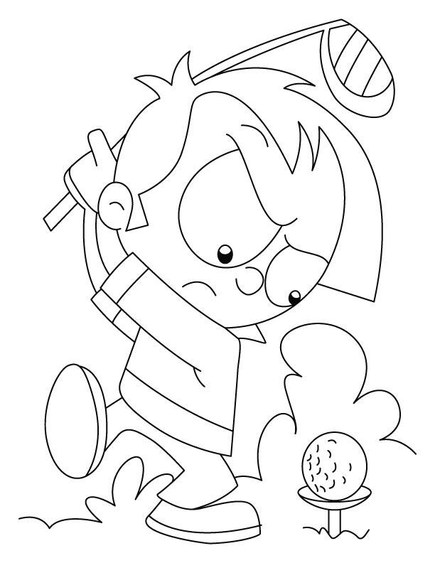 Golf coloring #3, Download drawings