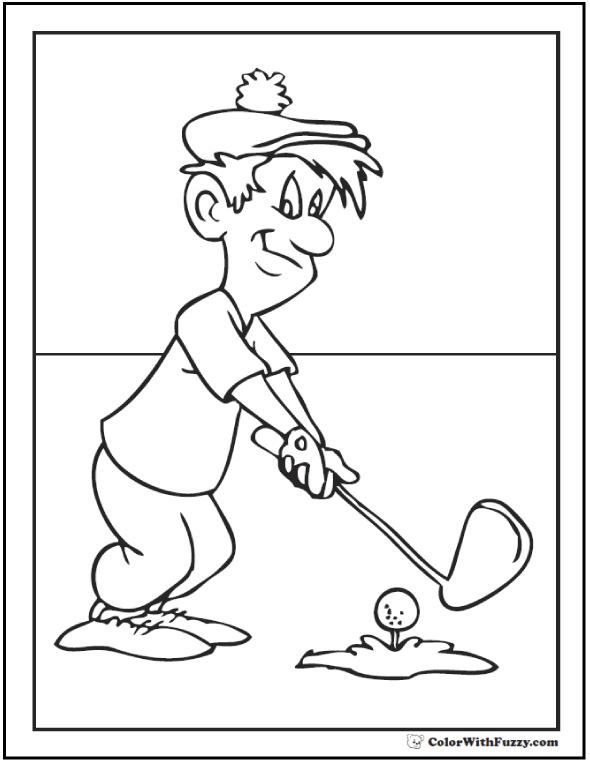 Golf coloring #13, Download drawings