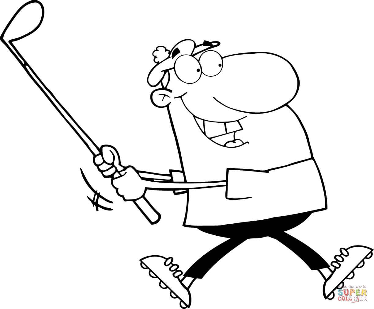 Golf coloring #7, Download drawings