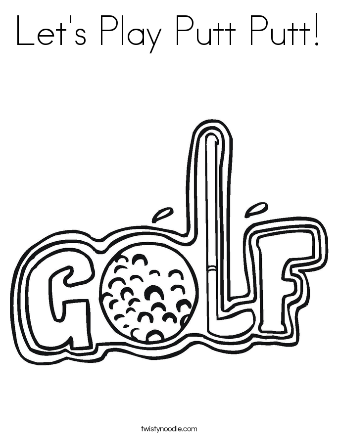 Golf coloring #8, Download drawings