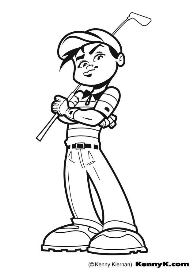 Golf coloring #5, Download drawings