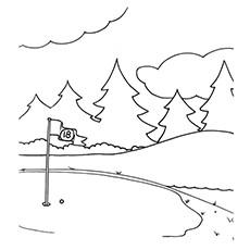 Golf coloring #10, Download drawings