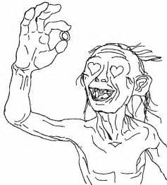 Gollum coloring #16, Download drawings