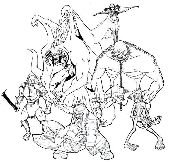 Gollum coloring #8, Download drawings