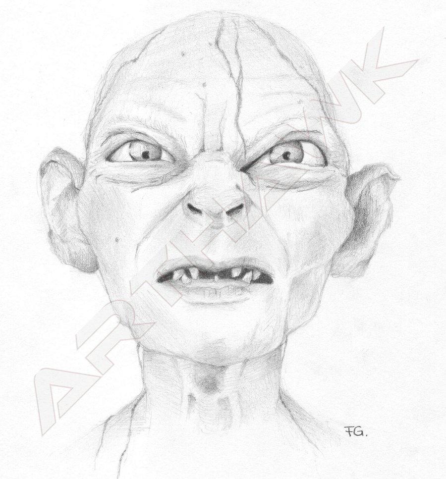 Gollum coloring #5, Download drawings