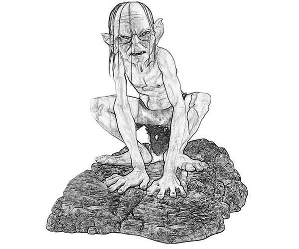 Gollum coloring #19, Download drawings