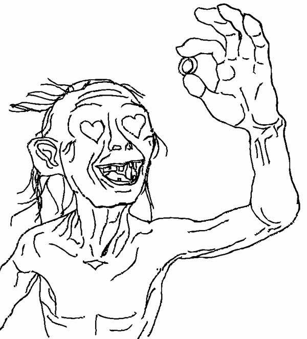 Gollum coloring #18, Download drawings