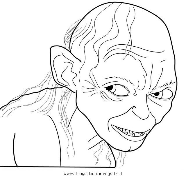Gollum coloring #10, Download drawings