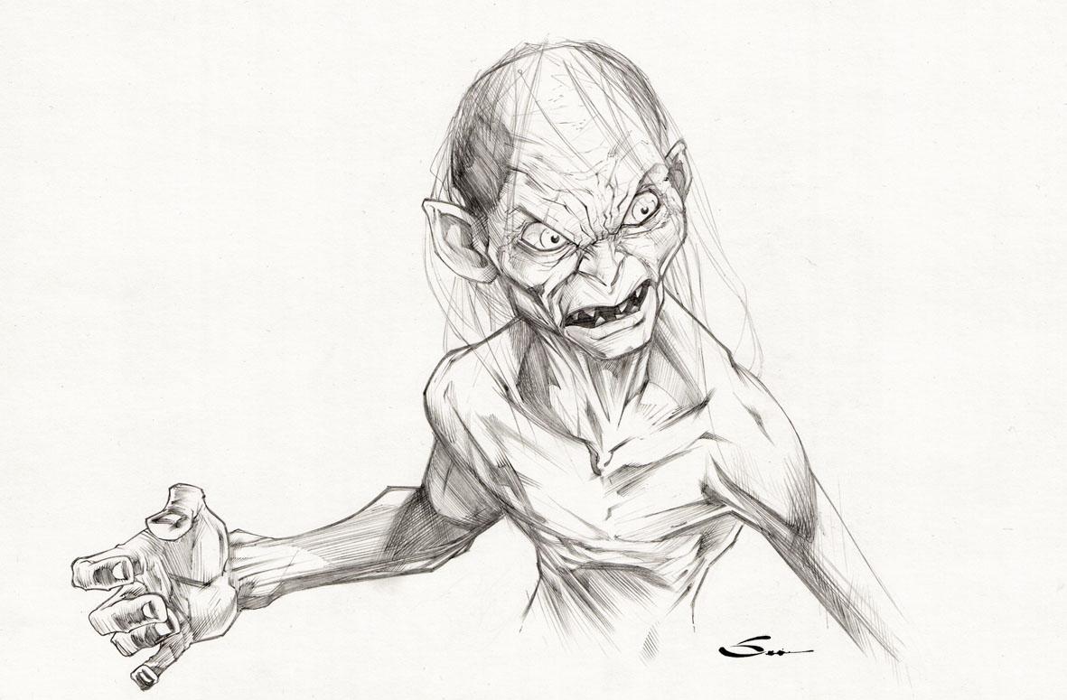 Gollum coloring #3, Download drawings