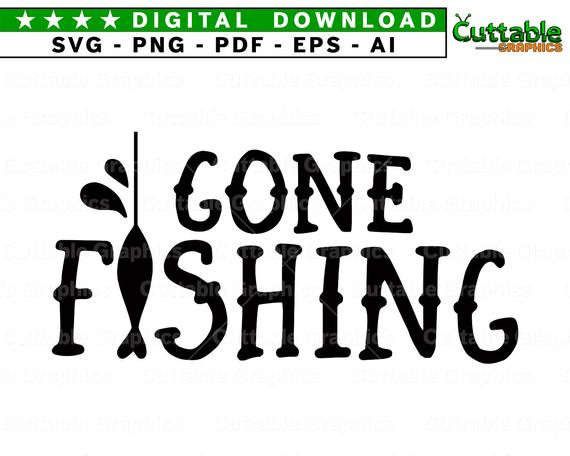 gone fishing svg #1225, Download drawings