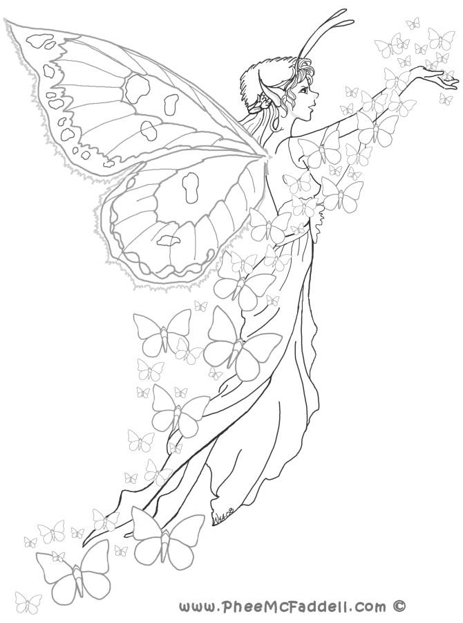 Gorgeous Fairies! coloring #12, Download drawings