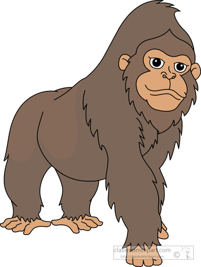 Gorilla clipart #1, Download drawings