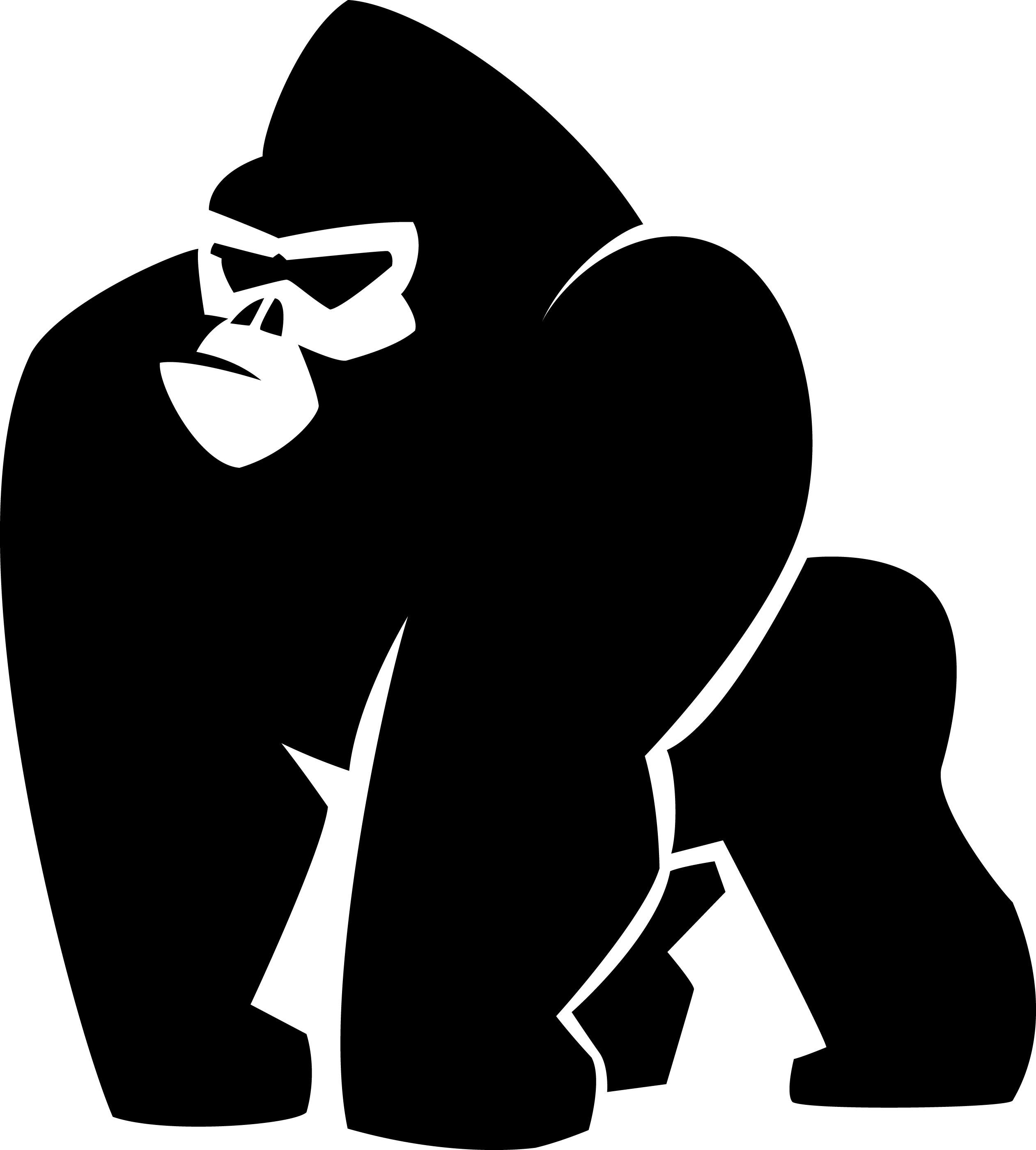 Gorilla svg #6, Download drawings