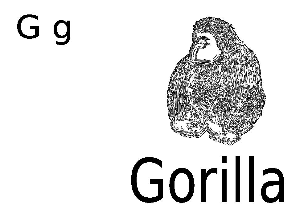 Gorilla svg #2, Download drawings