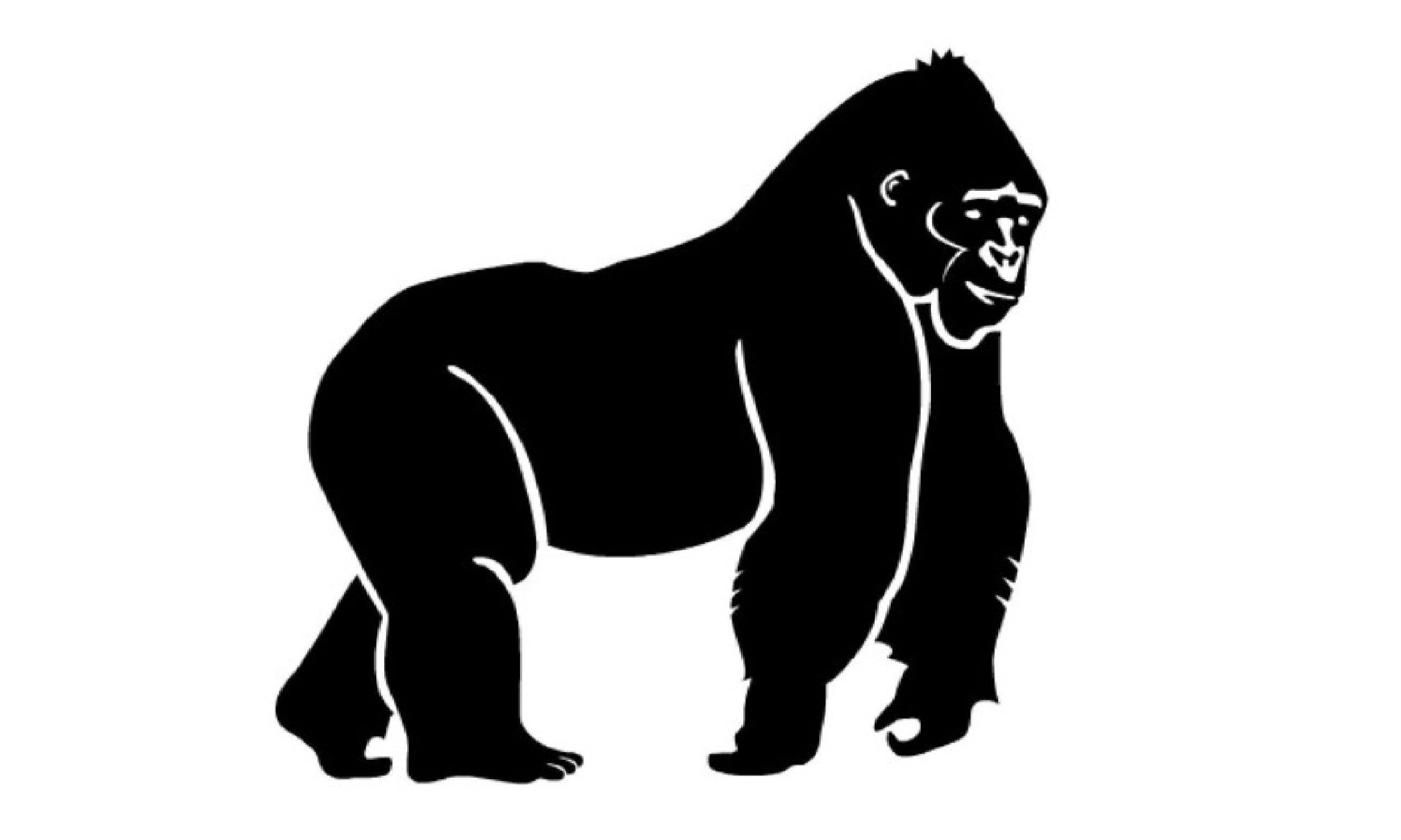 Gorilla svg #14, Download drawings