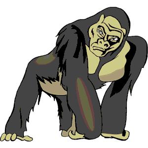 Gorilla svg #13, Download drawings