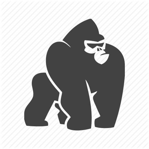 Gorilla svg #17, Download drawings